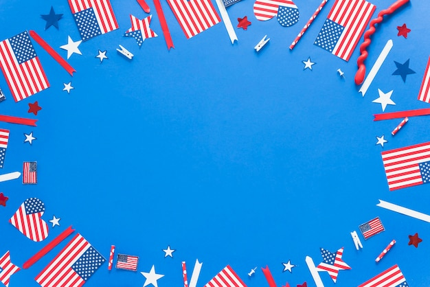 Decoração de papel para o dia da independência Foto gratuita