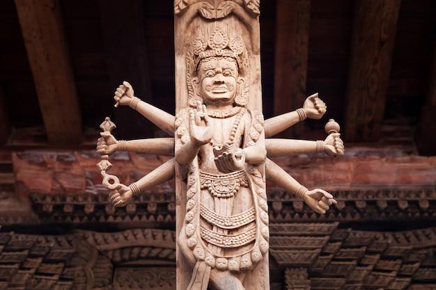 Decoração do templo hindu Foto Premium