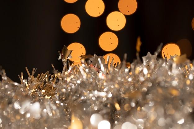 Decoração elegante de close-up para festa de ano novo Foto gratuita