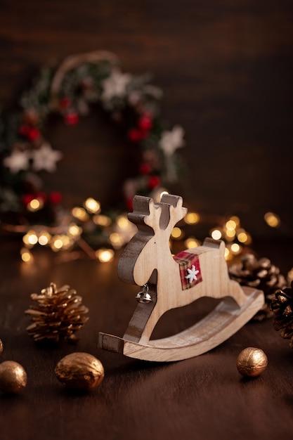 Decoração festiva de natal vintage Foto Premium