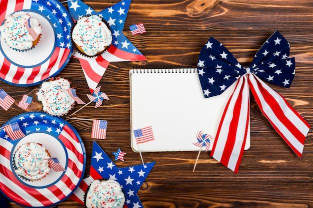 Deleite e decoração para o dia da independência Foto gratuita