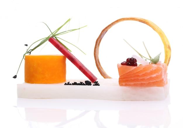 Deliciosa comida gourmet Foto gratuita