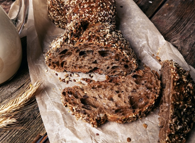 Deliciosas fatias de pão Foto gratuita