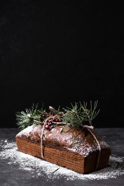 Delicioso bolo feito especial para o natal Foto gratuita