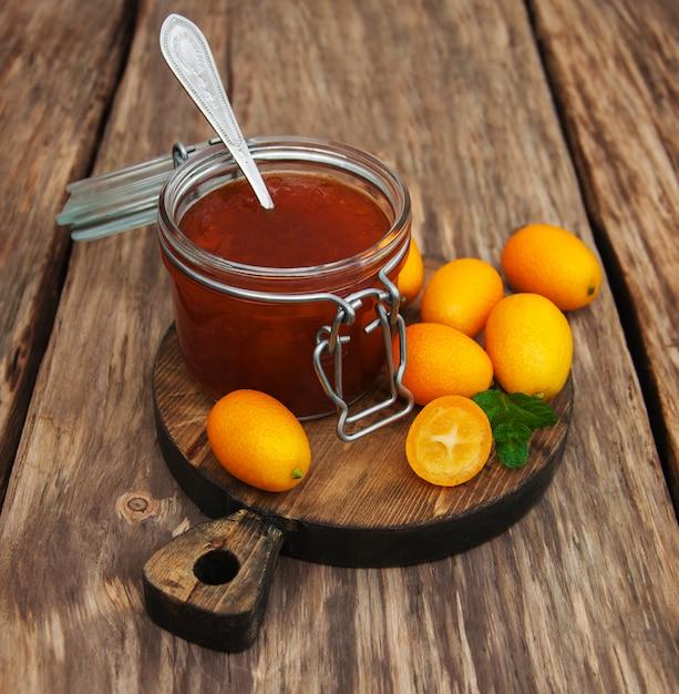 Delicioso geléia de kumquat Foto Premium