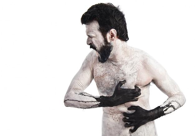 Demonique com dor Foto gratuita
