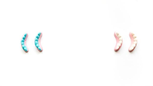 Dentes de geléia para celebração de halloween Foto gratuita