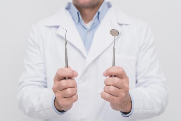 Dentista, apresentando, ferramentas Foto gratuita