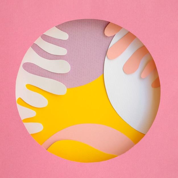 Desenho abstrato de fundo geométrico de papel Foto gratuita