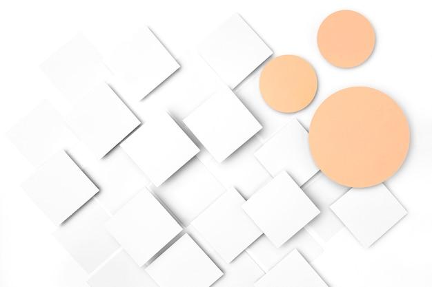 Desenho de fundo de círculos e quadrados Foto gratuita