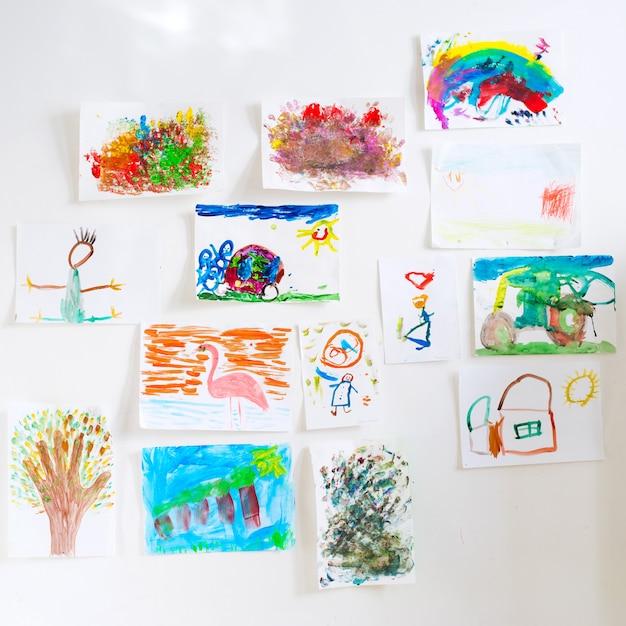 Desenhos de crianças Foto Premium