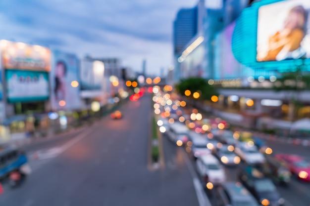 Desfocado desfocado na cidade de bangkok na tailândia Foto Premium