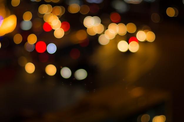Desfocar a imagem das luzes Foto Premium