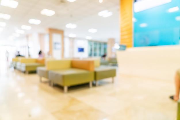 Desfoque abstrato e desfocar no hospital Foto Premium
