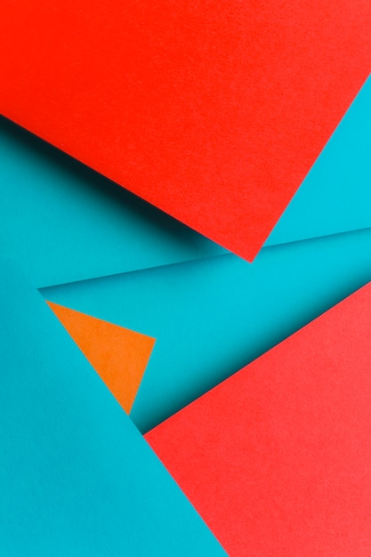 Design criativo para azul; papel de parede vermelho e laranja Foto gratuita