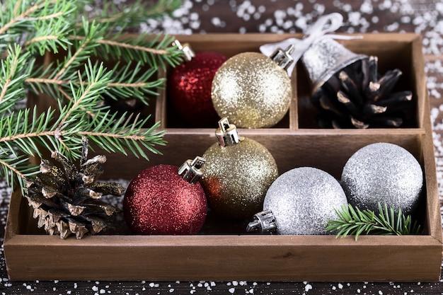 Design de cartão de ano novo. Foto Premium