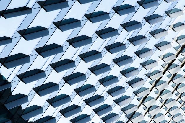 Design de edifício moderno de alto ângulo Foto gratuita