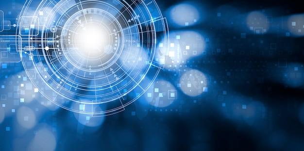 Design de fundo de tecnologia digital com espaço de cópia Foto Premium