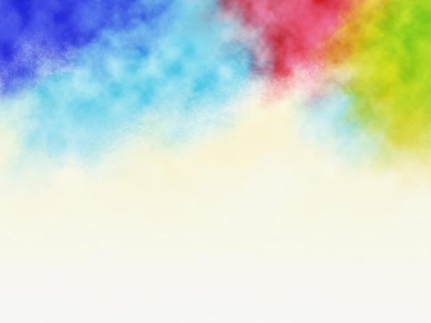 Design de fundo festival holi de salpicos coloridos com espaço de cópia Foto Premium