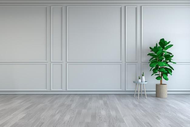 Design de interiores de quarto minimalista Foto Premium