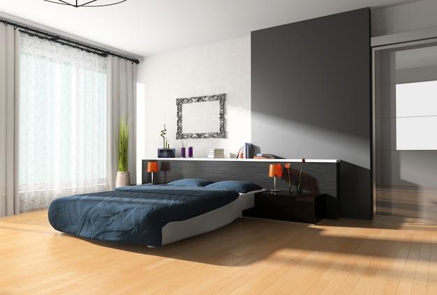 Design de interiores de um quarto Foto Premium