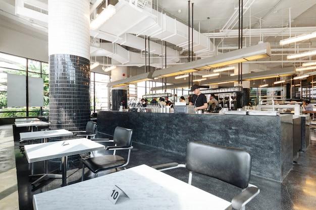 Design de interiores decorado industrial preto e branco Foto Premium