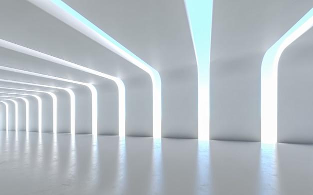 Design de interiores do corredor iluminado Foto Premium