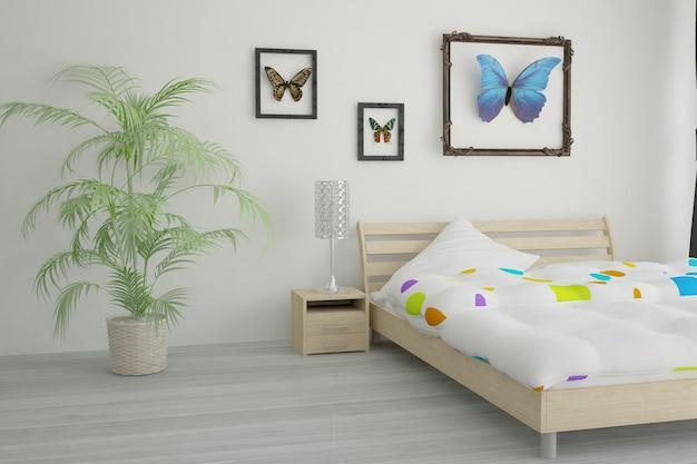 Design de interiores moderno. ilustração 3d Foto Premium
