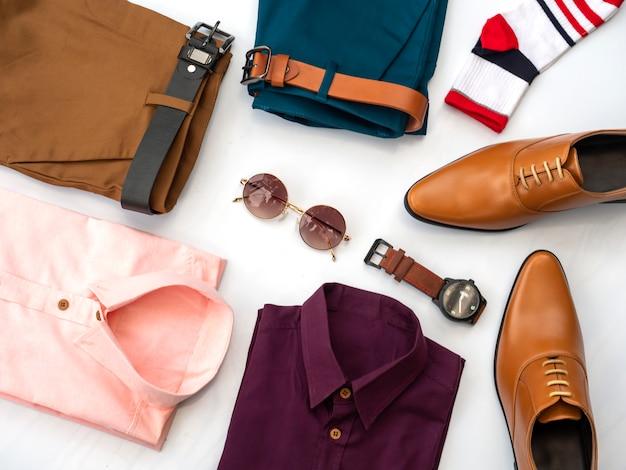 Design de moda criativa para homens conjunto de roupas casuais Foto Premium