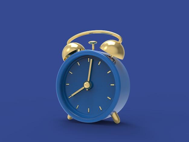 Despertador no relógio processado Foto Premium