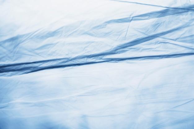 Detalhe azul do saco de plástico close-up Foto gratuita