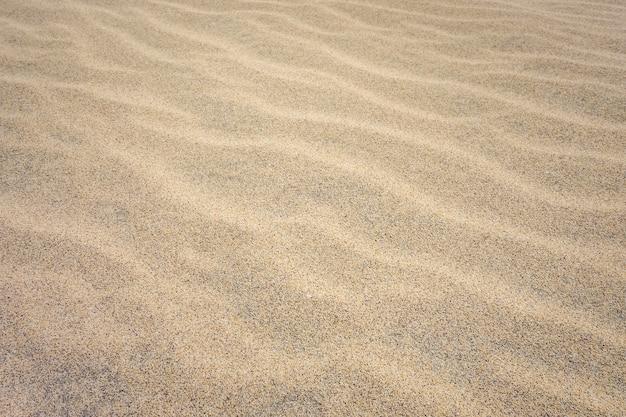 Detalhe da areia na praia de ponta preta em santa maria, ilha do sal, cabo verde Foto Premium