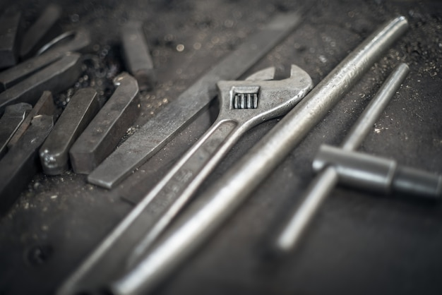 Detalhe de ferramentas de precisão Foto gratuita