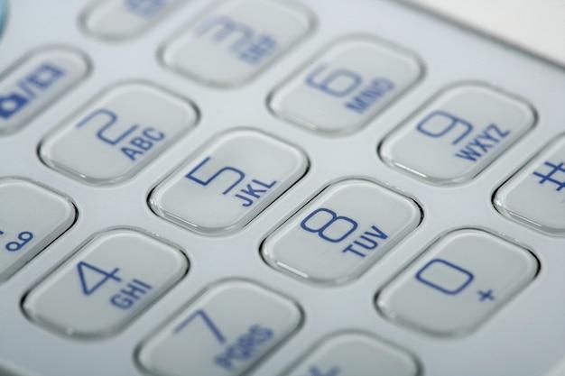 Detalhe de teclado macro celular Foto Premium