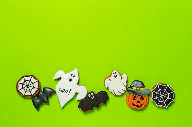 Dia das bruxas, com, biscoitos Foto Premium