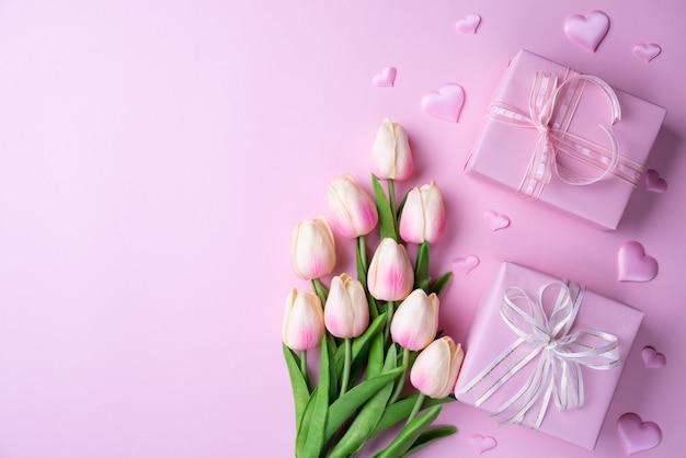 Dia dos namorados e conceito de amor no fundo rosa. Foto Premium