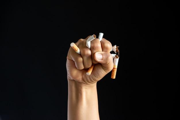 Dia mundial sem tabaco, 31 de maio. parar fumar. Foto Premium