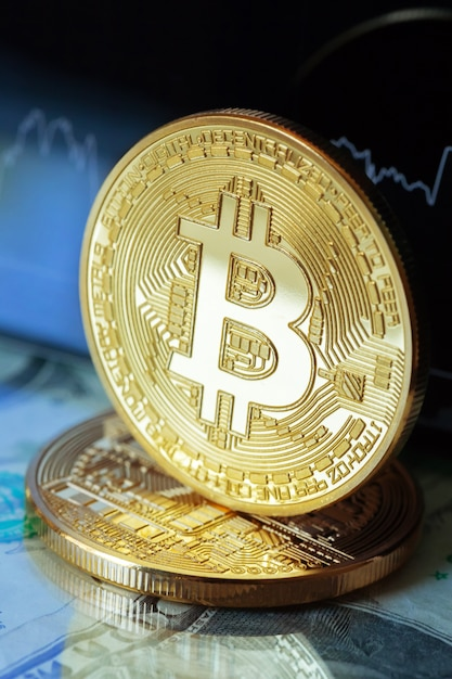 Diagrama de moeda criptografada bitcoin Foto Premium