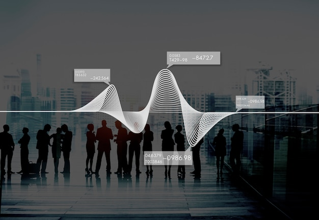 Diagrama gráficos informação estatística stock data concept Foto gratuita