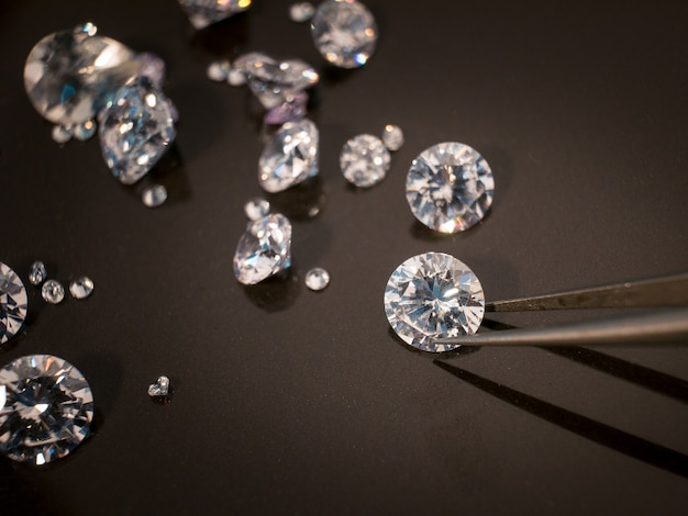 Diamante, ligado, pretas, shire, tabela Foto Premium