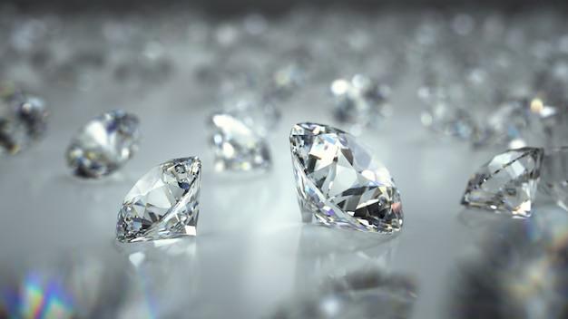 Diamantes em um fundo Foto Premium