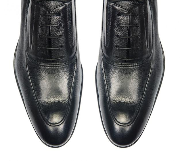 Dica de sapatos masculinos isolado no branco Foto Premium