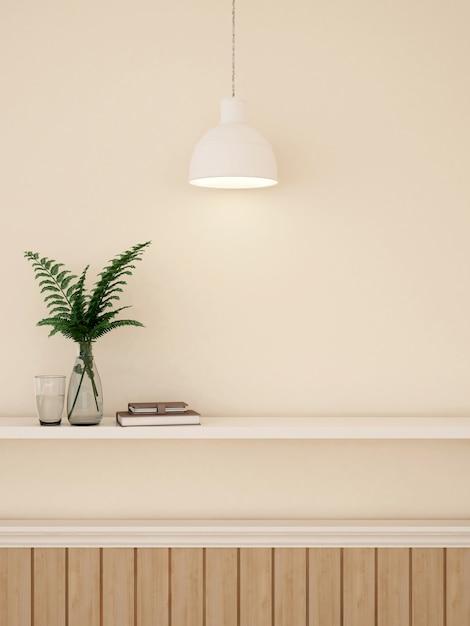 Diminuição de parede para obras de arte em galeria ou estúdio - renderização em 3d Foto Premium