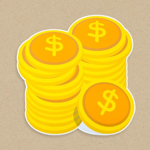 Dinheiro, ícone, isolado Foto gratuita