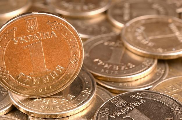 Dinheiro ucraniano de sucesso financeiro para conceitos de vida ricos Foto Premium