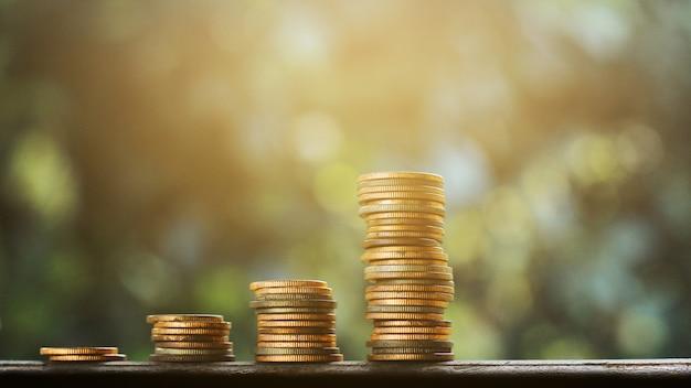 Dinheiro velho gráfico finanças e conceito de negócio Foto Premium