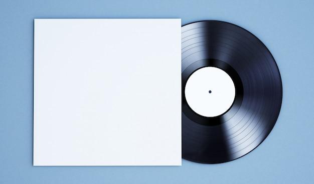 Disco de vinil em branco Foto Premium