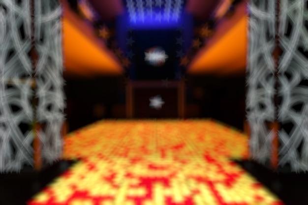 Disco entrada desfocado com quadrados amarelos e vermelhos Foto gratuita
