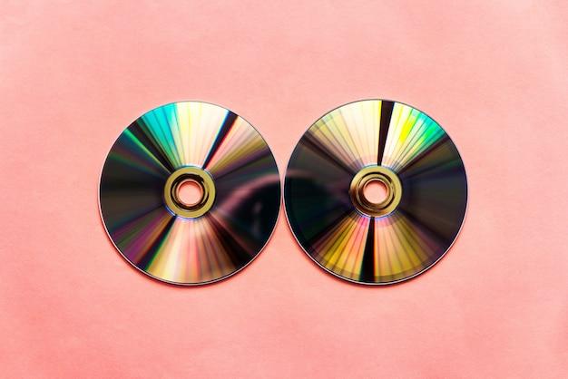 Discos compactos refletidos Foto Premium
