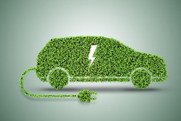 Do carro elétrico verde Foto Premium
